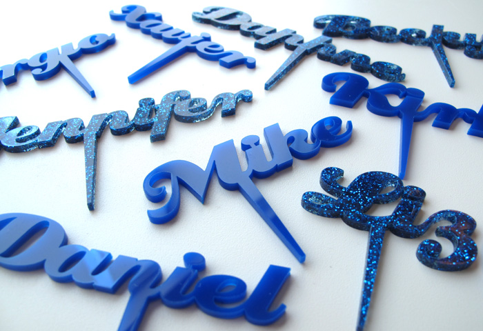 laser cutting shop acrylic cake topper