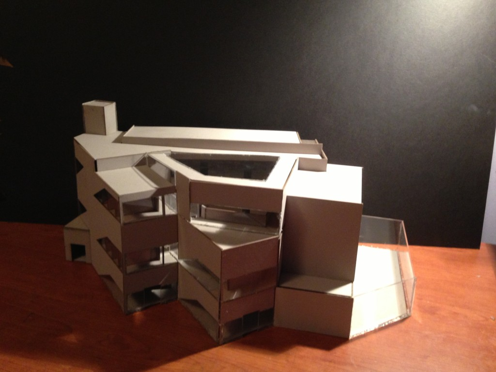 Laser Cut and Assembled House Model