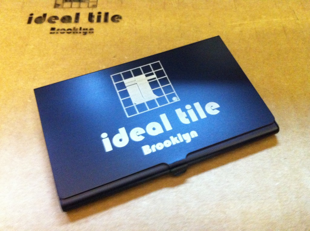 business card engraving and printing case holder branding