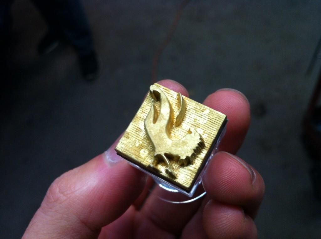 metal press plate for soap stamps laser engraved