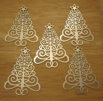 xmass tree decoration laser cut