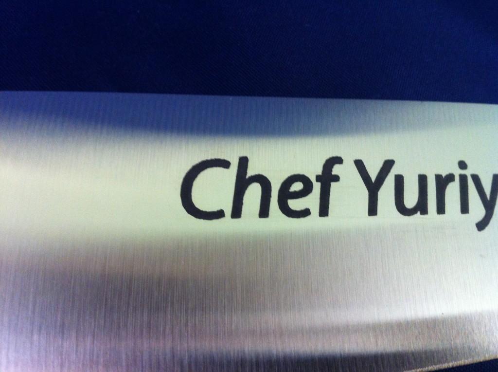 custom kitchen metal knife printing personalization
