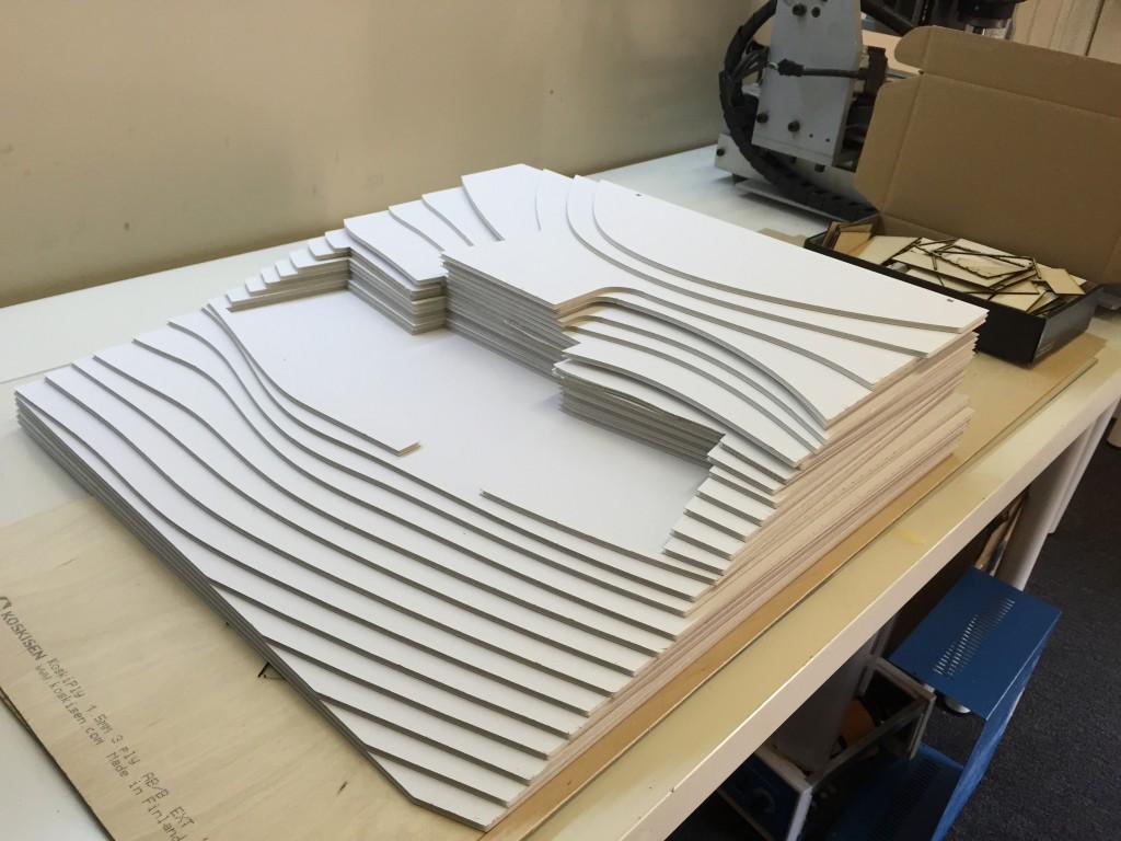 architectual relief terain elecation laser cutting foam board pratt