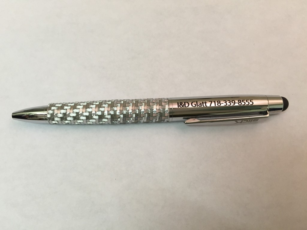 metal pen parking etching custom nyc