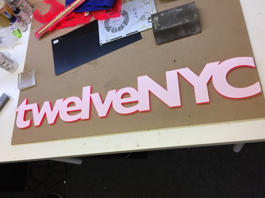 acrylic letter cut signs