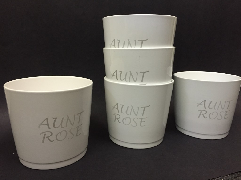 coated ceramic flower pot custom engraving brooklyn