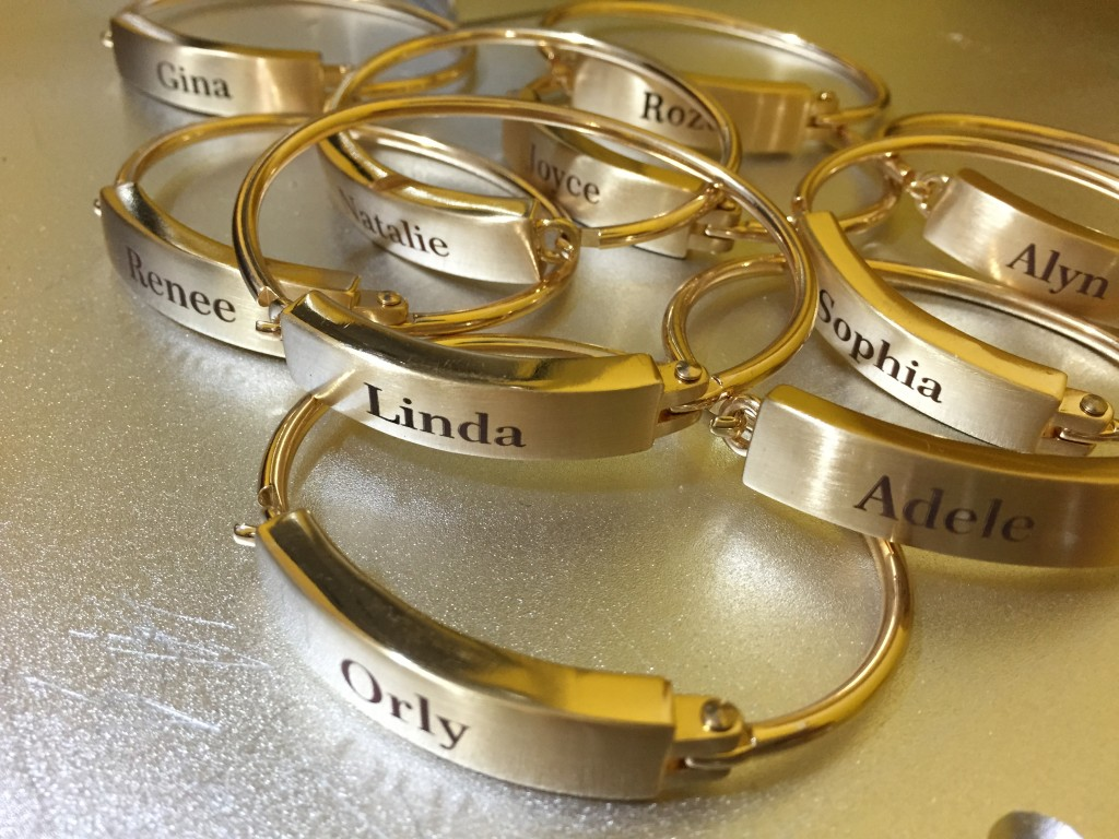Name Bracelets Laser Engraving Brass Jewelry NYC
