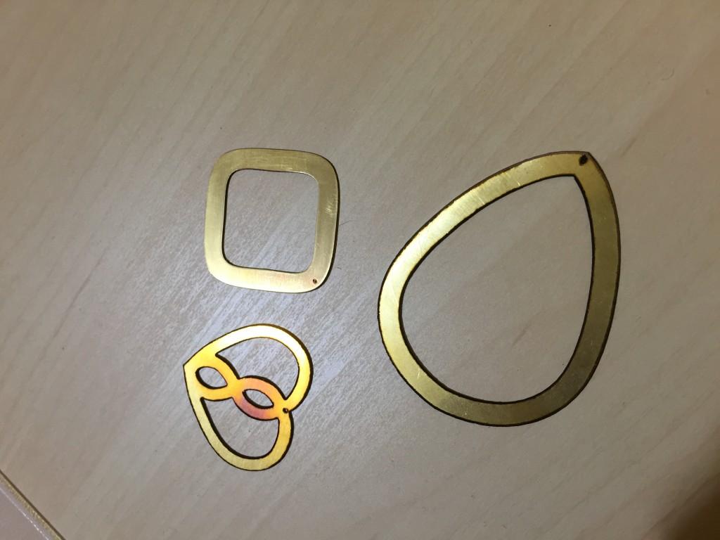 Metal Earrings Laser Cutting  NYC