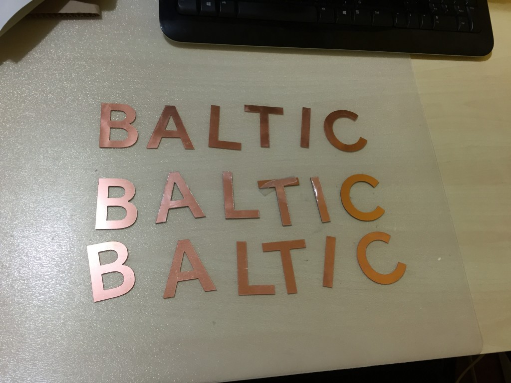 Metal Laser Cutting Sign Letters for Marble Insert