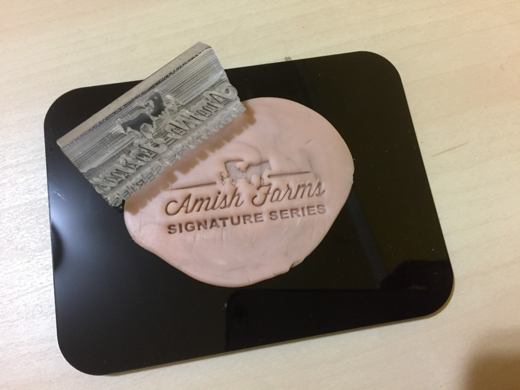 custom soap stamp  test plate