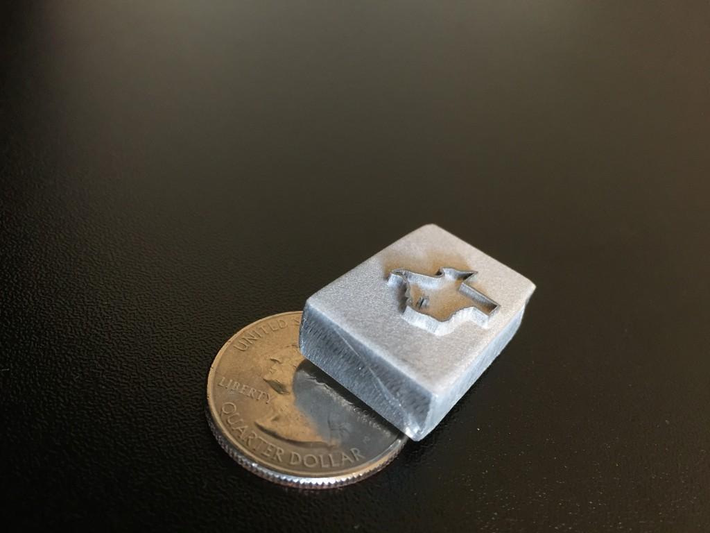 metal stamp module embossing  aluminum lasercutz