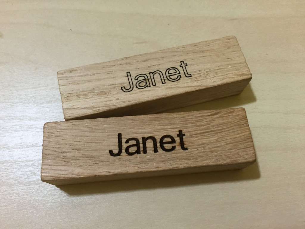 wood block engraving with co2 laser in brooklyn
