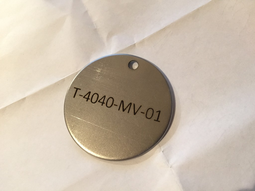 durable steel pipe tag laser marking