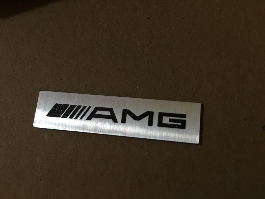 Mercedes AMG Metal Logo Badge