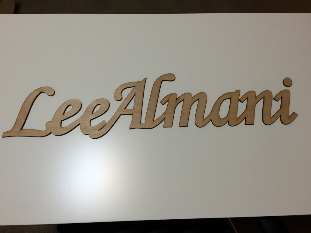 Wood Event Sign – Laser Cut Plywood