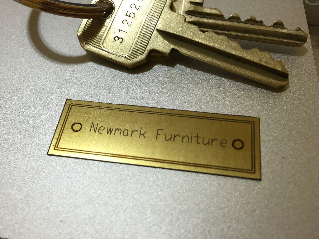brass laser cutting furniture name plate