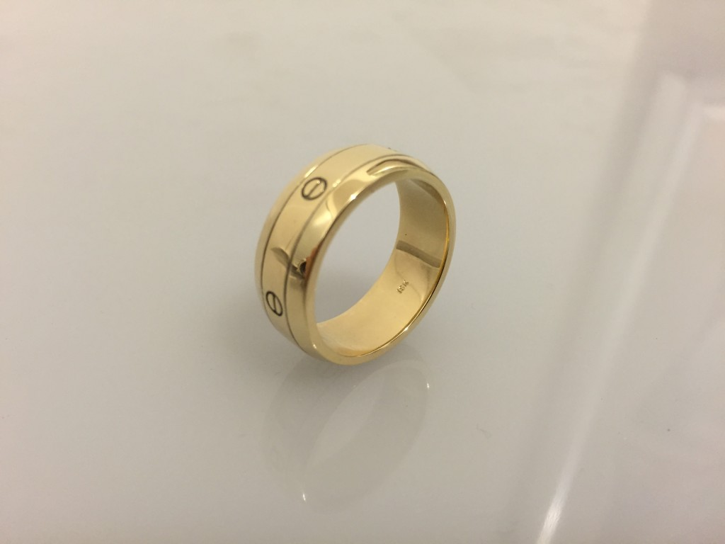 custom gold ring design and fabrication