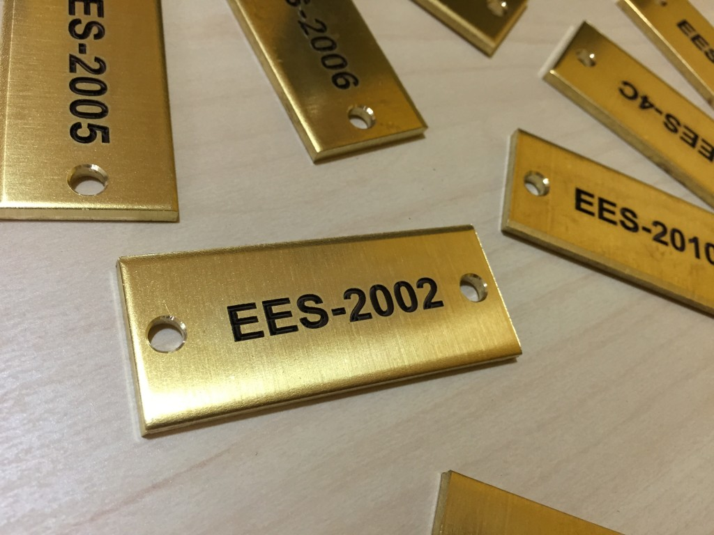 laguardia cabinet tags engraved in brass