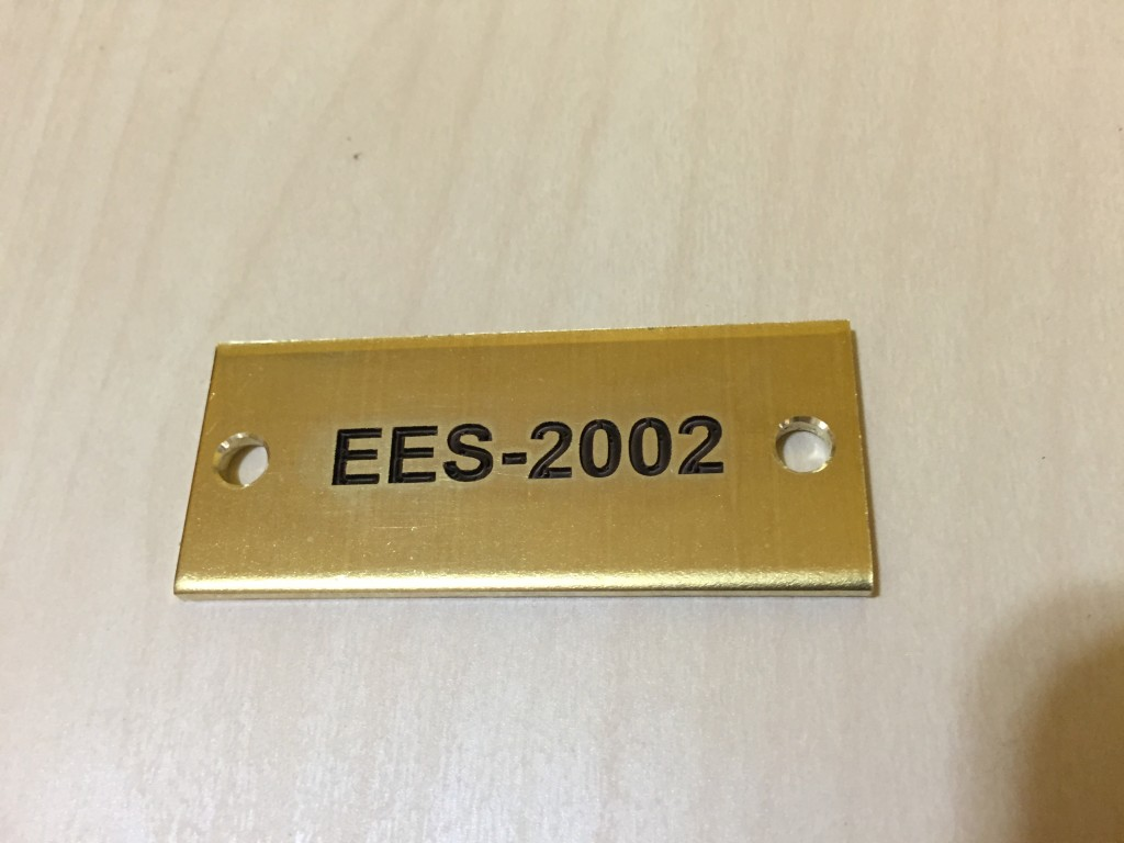 military brass tag engraving in brass