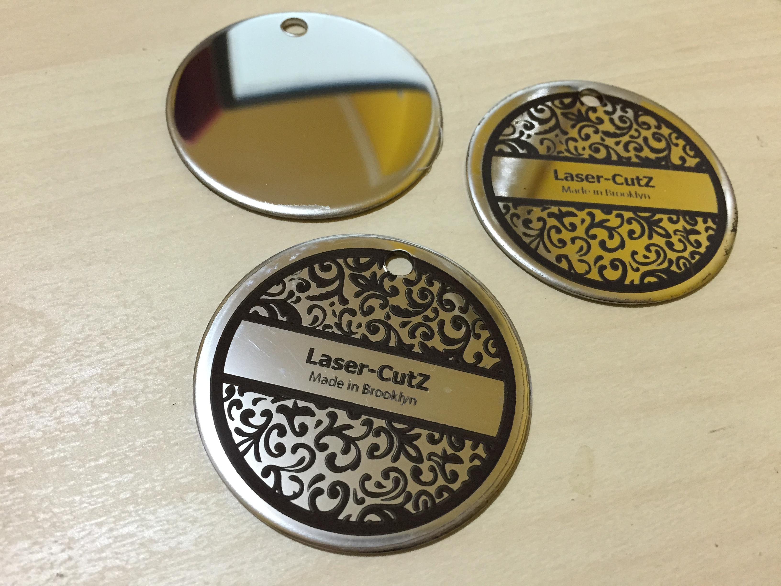 Laser-CutZ   Stainless Steel Metal Laser engraving on ID