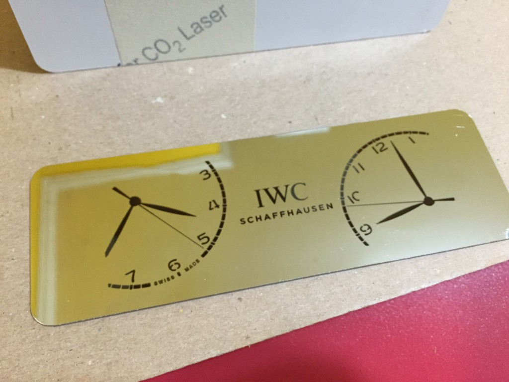 IWC custom laser cut napkin holder