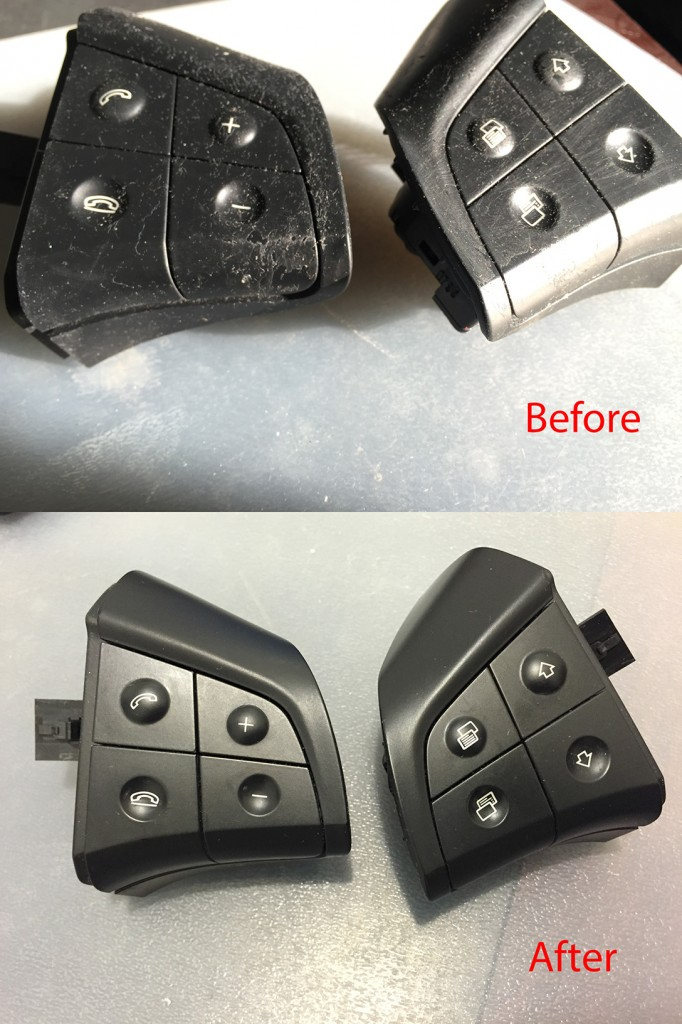 Mercedes Steering Wheel Custom Buttons Laser Engraving NYC