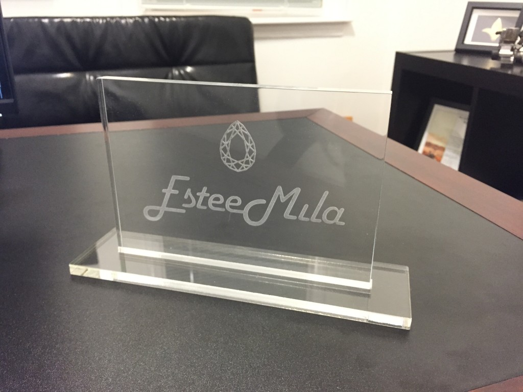 acrylic engraved crystal award sign trophy nyc lasercutz