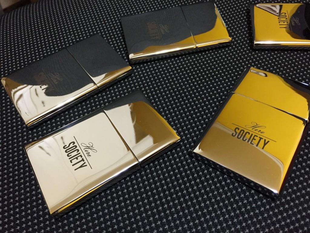 chrome business card holder laser engraving