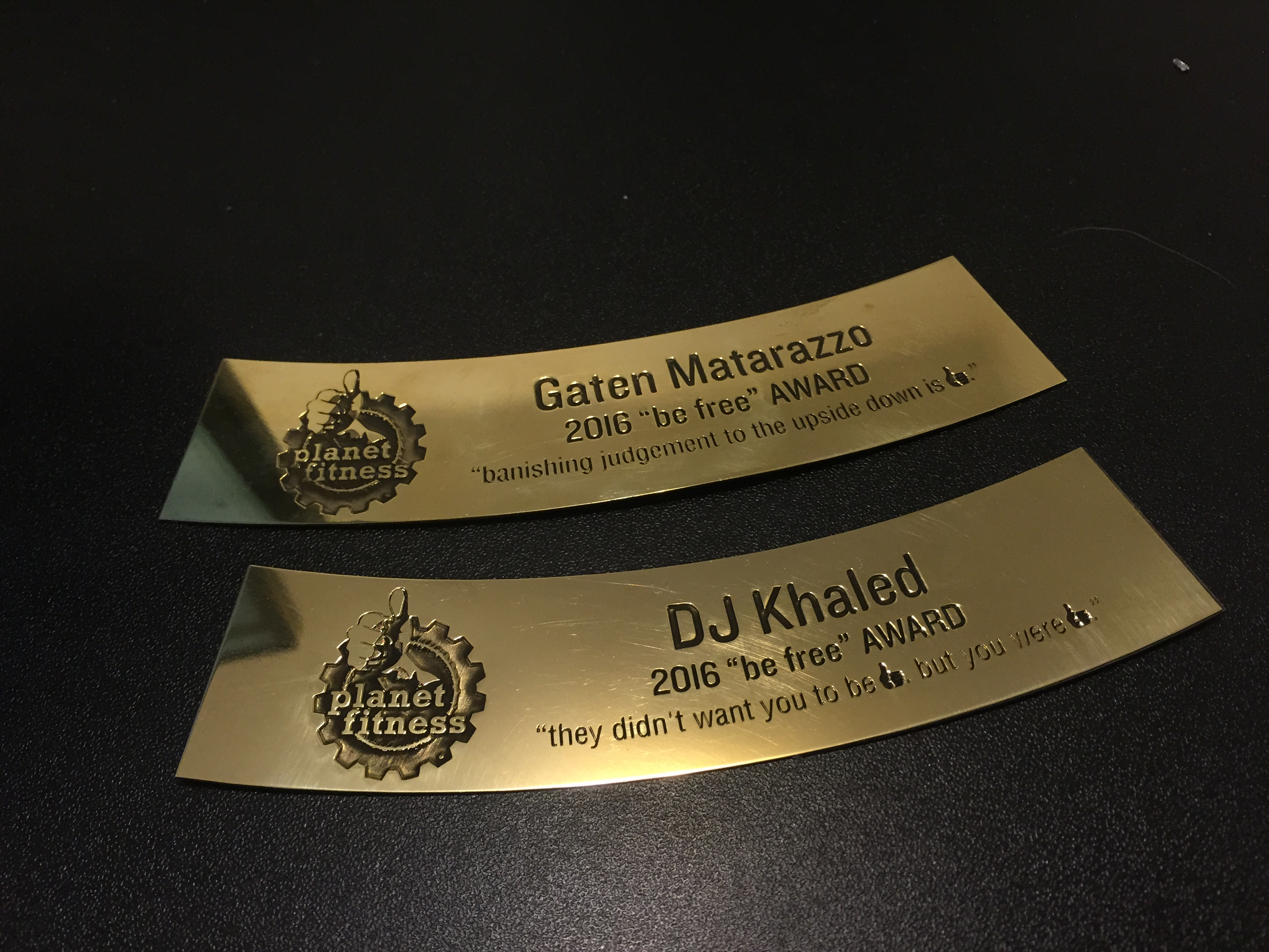 Laser-CutZ | Brass sign custom laser cut and engraved for