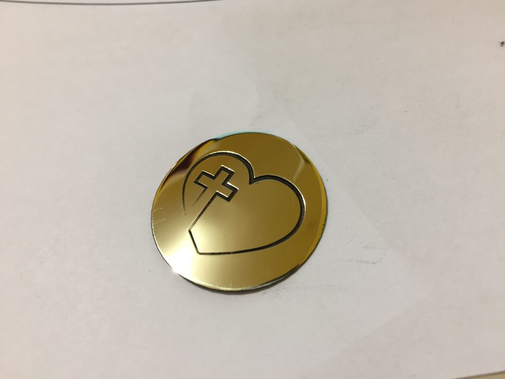 Laser-CutZ | Gold Metal Medallion Laser Cutting and