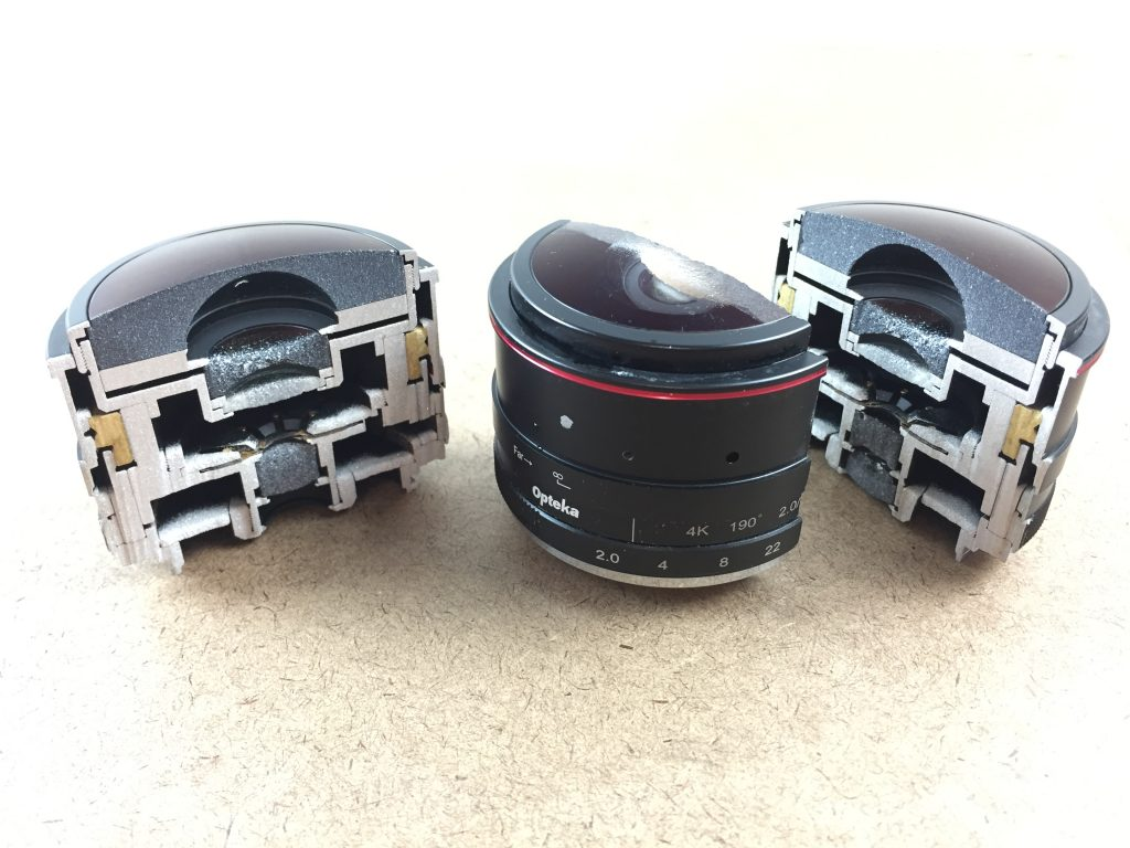 Waterjet Canon Lens Cut in Half by LaserCutZ