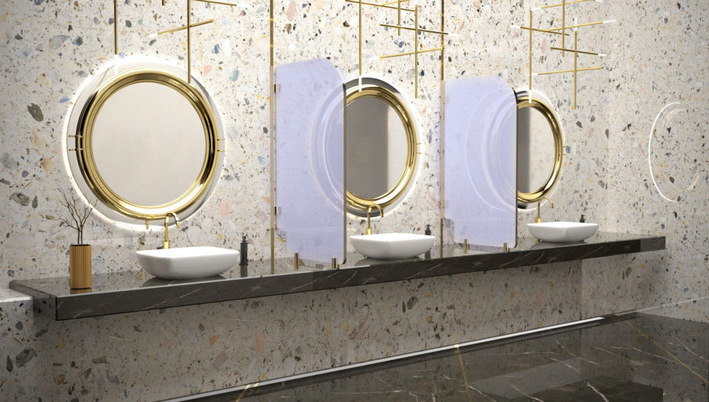 Commercial Bathroom Sneeze Guard Dividers NYC Buildings LaserCutZ